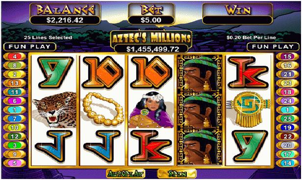 Aztec Million Game Play
