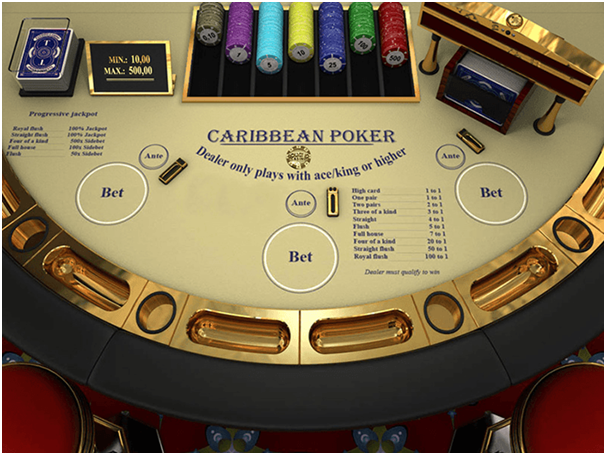 Caribbean poker Game