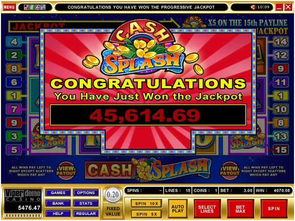 Cash Splash Progressive Jackpot