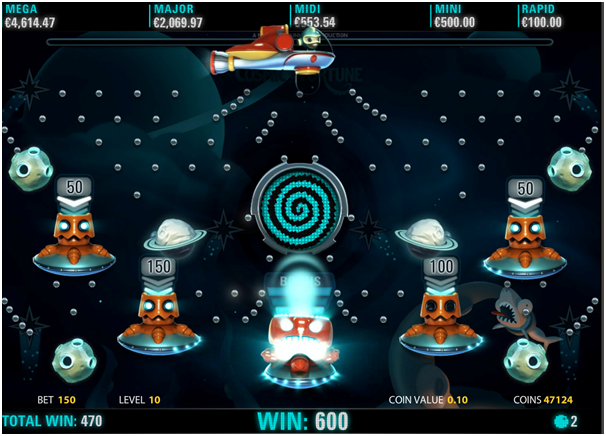 Cosmic Fortune Game features