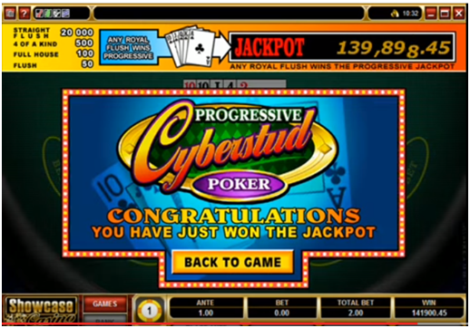 Cyberstud Poker Wins