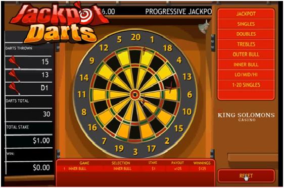 Jackpot darts progressive jackpot