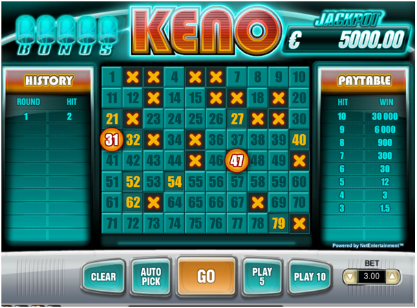 Keno How to Play