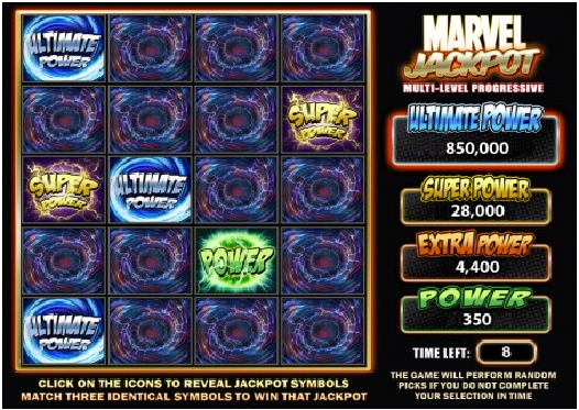 Marvel Ultimate Power Progressive Jackpot