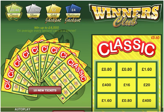 Winners Club Progressive Jackpot