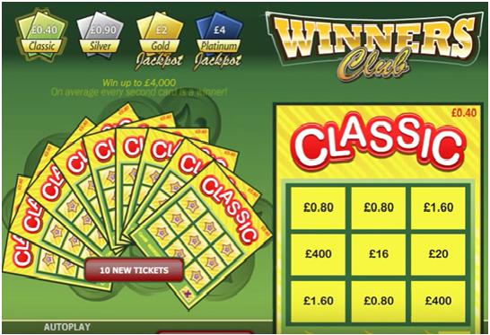 Winners Club Progressive Jackpot