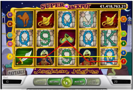 Arabian Nights Game Features