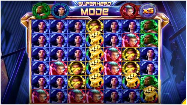 4Squad pokies superhero mode