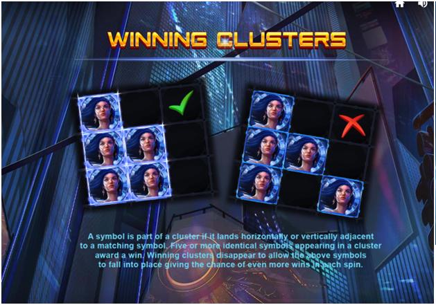 Winning combinations in 4Squad pokies