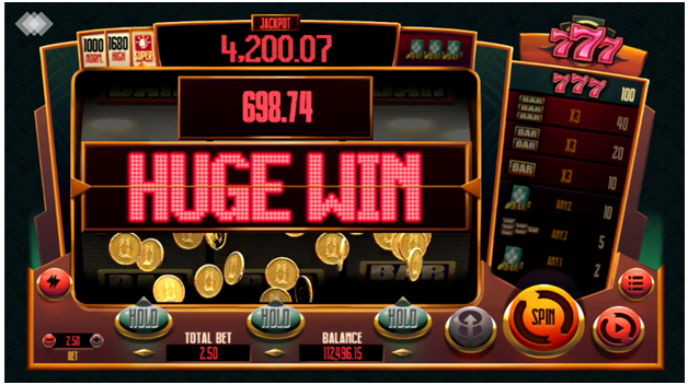 777 Pokies features