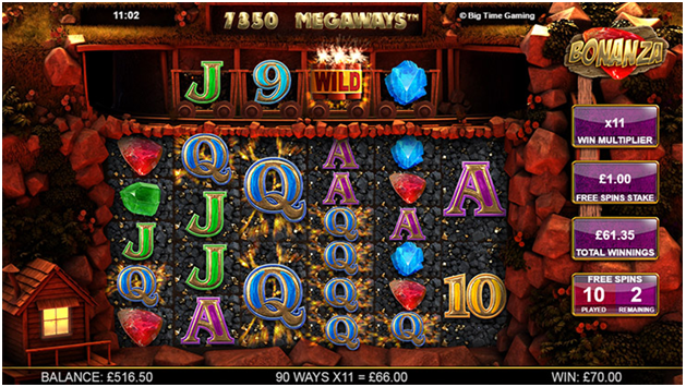Bonanza pokies online game features