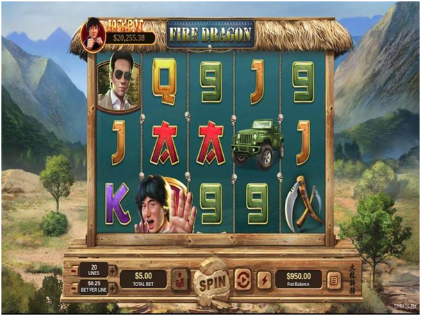 Fire Dragon Pokies features