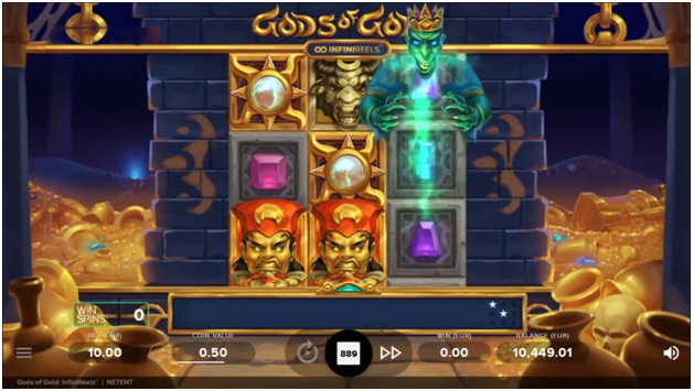 Play Gods of Gold Infini Reels Pokies