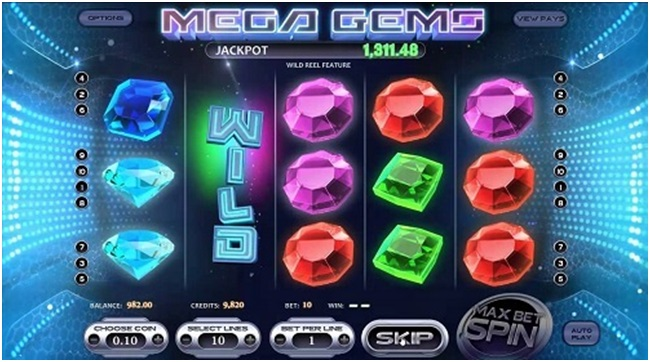 Mega Gems features
