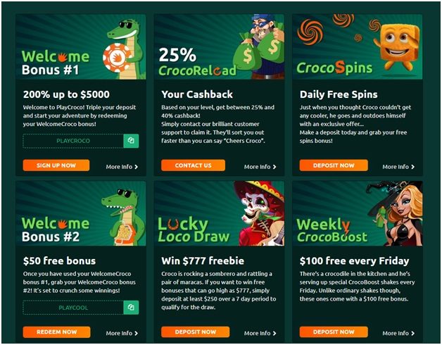 How to play the Jackpot pokies at Play Croco online casino?