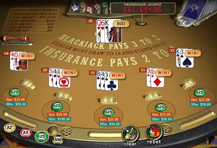 Progressive Blackjack from Playtech