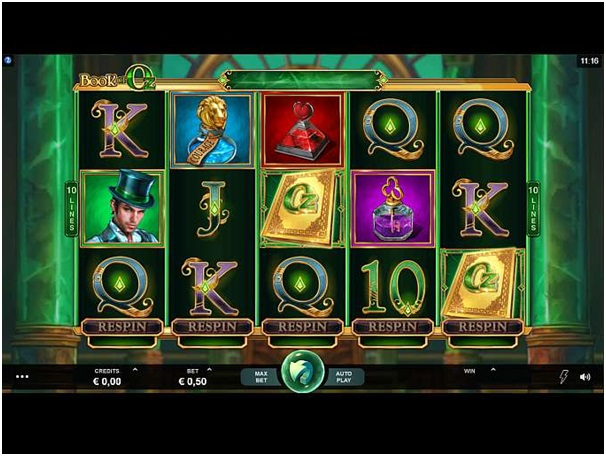 Respin feature in Book of Oz pokies