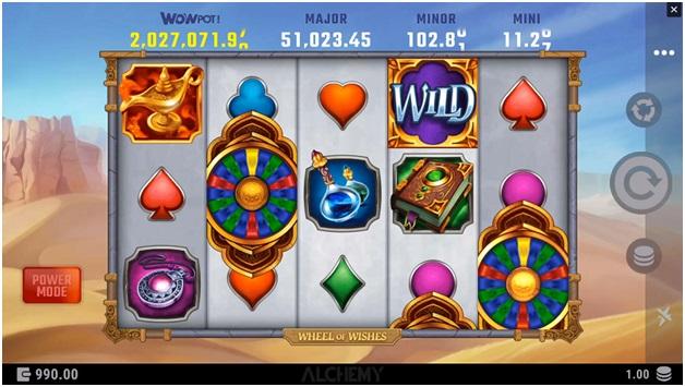 Wheel of wishes progressive jackpot